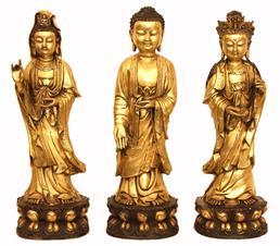 CLICCA PER MAGGIORI DETTAGLI / Buddha e due Guanyin